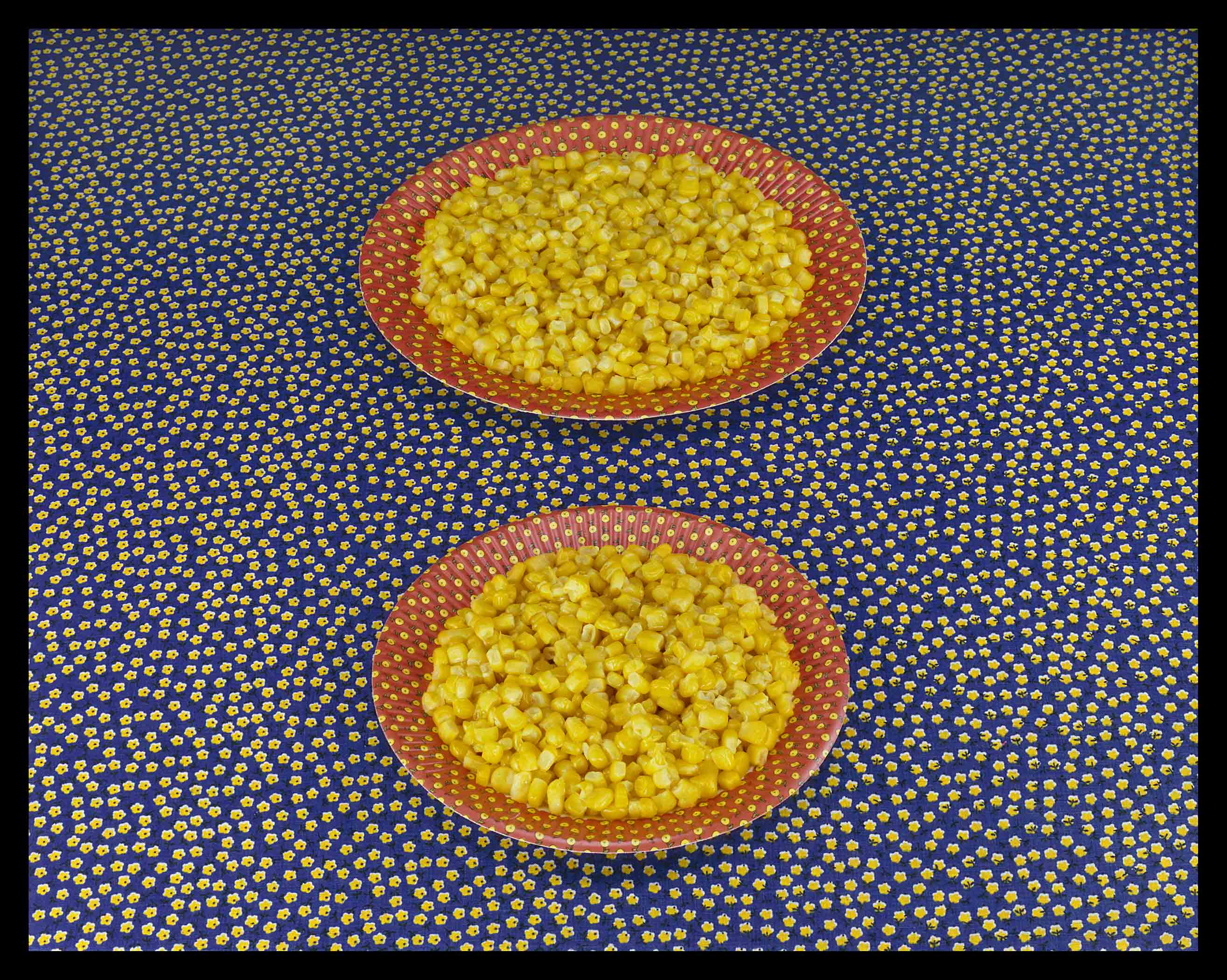 TWO PLATES OF CORN